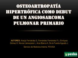 OSTEOARTROPATÍA HIPERTRÓFICA COMO DEBUT DE UN