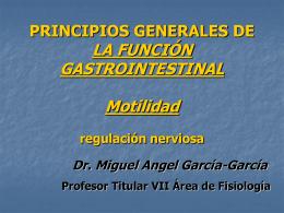 PRINCIPIOS GENERALES DE LA FUNCIÓN