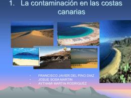 La contaminación en las costas canarias