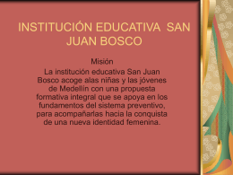 INSTITUCIÓN EDUCATIVA SAN JUAN BOSCO