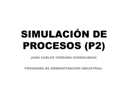 SIMULACIÓN DE PROCESOS (P2)