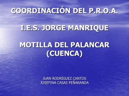 COORDINACIÓN DEL P.R.O.A. I.E.S. JORGE MANRIQUE