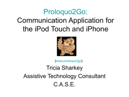 Proloquo2Go: AAC in Your Pocket