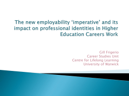 The new employability 'imperative' and its impact