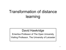 Transforming Distance Learning