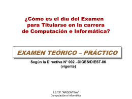 Diapositiva 1 - ISTP Argentina