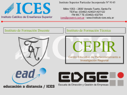 ICES - Instituto Superior Particular Incorporado
