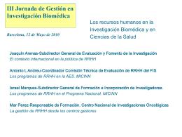 El Instituto de Salud Carlos III en la