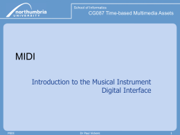 MIDI - Computing at Northumbria