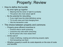 Property: Review - David D. Friedman`s Home Page