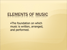 Elements of Music - Laurel County Schools