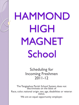 HAMMOND HIGH MAGNET School