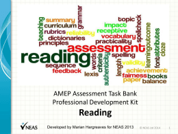AMEP Assessment Task BankProfessional Development