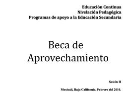 Educación Continua Nivelación Pedagógica Programas