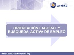 Diapositiva 1 - Fundación Coremsa