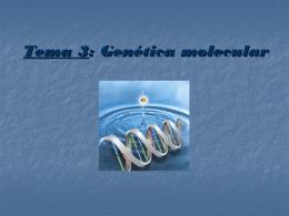 Tema 3: Genética molecular