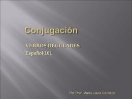 Conjugación de verbos regulares