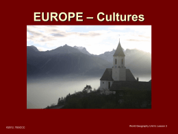 Europe Cultures - Lake Dallas Independent School
