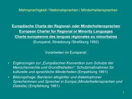 Nationalsprachlichkeit und Europäischer