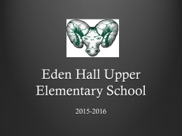 Eden Hall Upper Elementary School