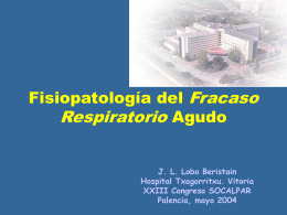 Fisiopatología del Fracaso Ventilatorio Agudo