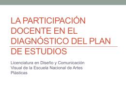 La participación docente en el diagnóstico del