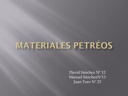 MATERIALES PETRÉOS
