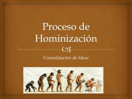 Proceso de Hominización