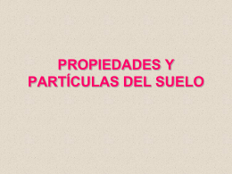 PROPIEDADES DE LOS SUELOS Y TIPOLOGÍA