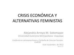 CRISIS ECONÓMICA Y ALTERNATIVAS FEMINISTAS