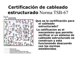 Certificación de cableado estructurado Norma