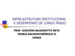INFRA-ESTRUTURA INSTITUCIONAL E DESEMPENHO DE