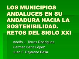 LOS MUNICIPIOS ANDALUCES EN SU ANDADURA HACIA LA