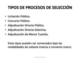 LOS PROCESOS DE SELECCIÓN