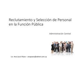 Reclutamiento y Selección de Personal en la