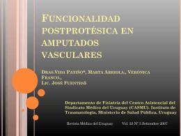 Funcionalidad posprotésica en amputados vasculares