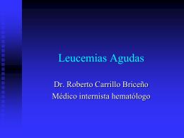 LEUCEMIAS - Fisiopatología y Patología | Donde