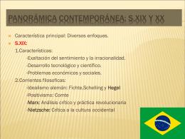 PANORÁMICA CONTEMPORÁNEA: S.XIX Y XX