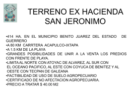 TERRENO EX HACIENDA SAN JERONIMO
