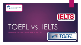 TOEFL and IELTS - Hult International Business