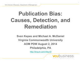 Publication Bias: Causes, Detection, and