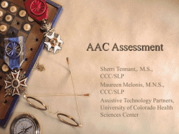 Considerations in AAC Assessment: Teams