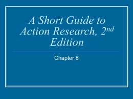 A Short Guide to Action Research, 2nd Edition
