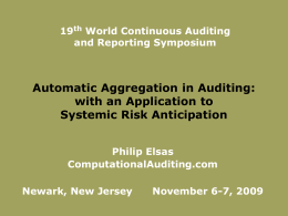 Automatic Aggregation in Auditing