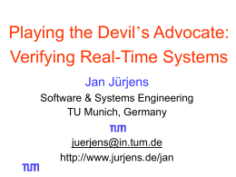 Critical Systems Development with UML Jan Jürjens