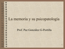 Memoria Aspectos Psiquiátrico