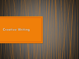 Creative Writing - Greer Middle College Charter