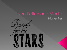 Non-fiction and Media