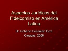 Aspectos Jurídicos del Fideicomiso en América