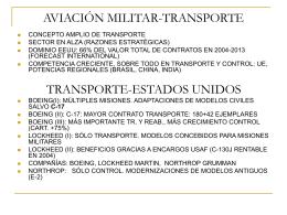 Aviación militar Aviones de transporte